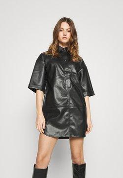 Topshop - Vestido camisero - black