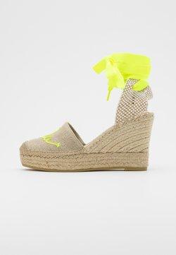 Vidorreta - Korolliset sandaalit - lino piedra/mensaje amaril