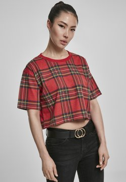 Urban Classics - T-Shirt print - red/black