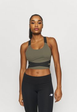 New Balance - DETERMINATION ACADEMY CROP BRA - Toppi - khaki