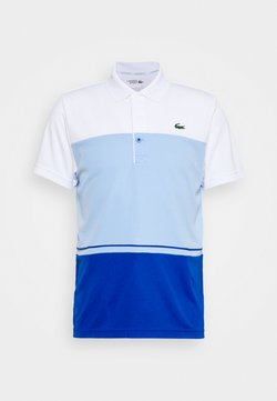 Lacoste Sport - TENNIS BLOCK - Polo - white/nattier blue
