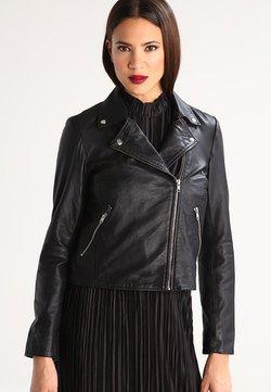 Selected Femme - SFMARLEN - Veste en cuir - black