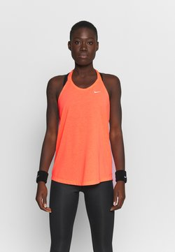 Nike Performance - DRY ELASTIKA TANK - Sports shirt - bright mango/white