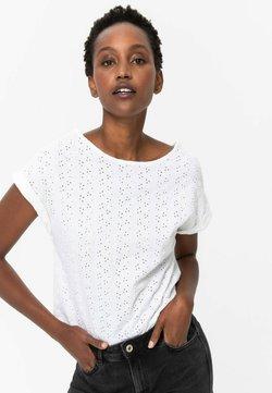 Promod - T-shirt imprimé - ecru