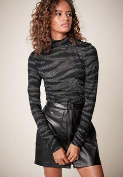 Next - METALLIC ZEBRA - Langarmshirt - black