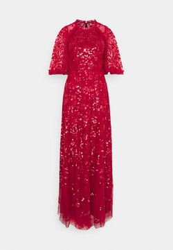Needle & Thread - SEQUIN RIBBON GOWN - Iltapuku - deep red
