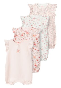 Next - PINK 4 PACK FLORAL ROMPERS (0MTHS-3YRS) - Combinaison - pink