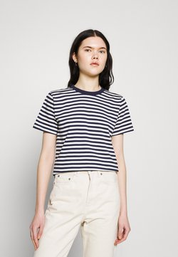 Dedicated - MYSEN STRIPES - T-Shirt print - black iris