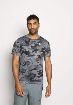 Nike Performance - DRY TEE - T-Shirt print - smoke grey/grey fog
