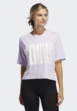 adidas Performance - T-SHIRT - T-Shirt print - purple tint