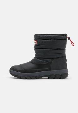 Hunter ORIGINAL - ORIGINAL INSULATED SNOW BOOT SHORT VEGAN - Winter boots - Snowboots  - black