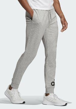 adidas Performance - ESSENTIALS FRENCH TERRY TAPERED CUFF LOGO JOGGERS - Spodnie treningowe - grey