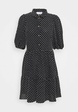 Closet - GATHERED DRESS - Shirt dress - black