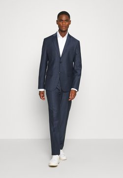 Calvin Klein Tailored - STRETCH SMALL GRID SUIT - Broek - blue