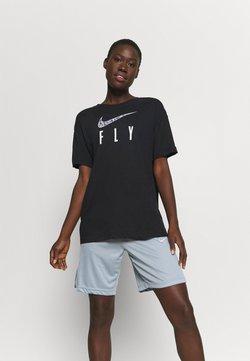Nike Performance - DRY FLY TEE - Printtipaita - black