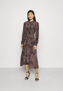 Guess - SELVAGGIA DRESS - Blusenkleid - iconic brown