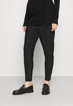 ONLY - OLMPOPTRASH CLASSIC PINSTRIPE PANT - Pantalon classique - black