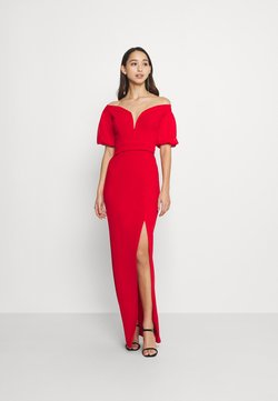 WAL G. - MILENA FLARE SLEEVE MAXI - Occasion wear - red