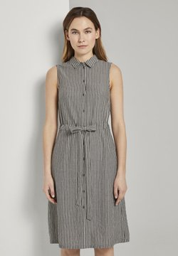 TOM TAILOR - DRESS STYLE WITH STRIPES - Blusenkleid - black small stripes