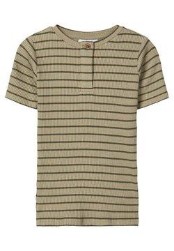 Name it - SLIM FIT STREIFENRIPP - T-shirt basic - silver sage