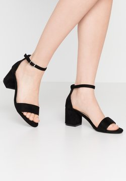 Nly by Nelly - LOW BLOCK  - Korolliset sandaalit - black