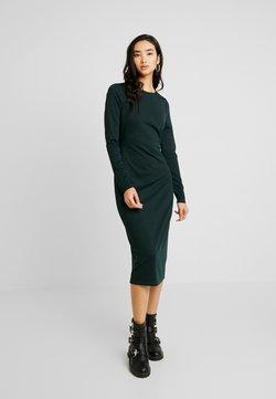 Lost Ink - TWIST BACK BODYCON DRESS - Vestido de tubo - dark green