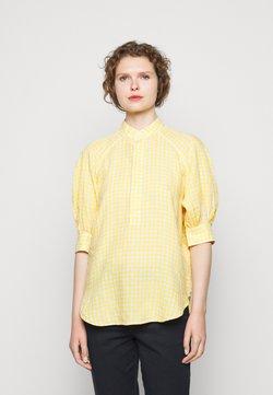 Polo Ralph Lauren - GINGHAM ELB SHIRT - Blouse - yellow/white