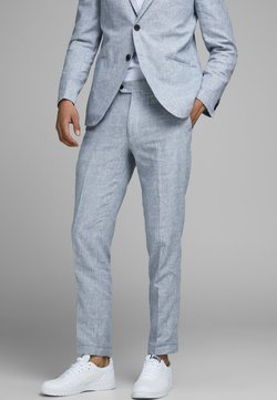 Jack & Jones - LINEN MIXED FIBER SUIT PANTS - Anzughose - light blue