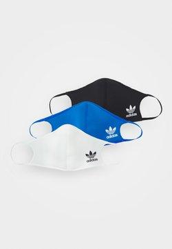 adidas Originals - FACE 3 PACK UNISEX - Mascarilla de tela - black/white/bluebird