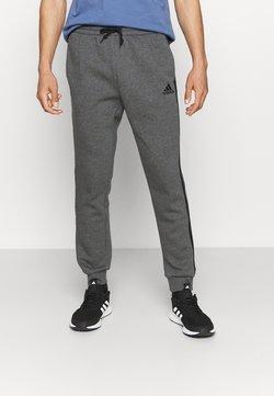 adidas Performance - 3 STRIPES  ESSENTIALS - Jogginghose - dark grey heather/black