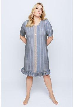 Ulla Popken - Nachthemd - taubenblau