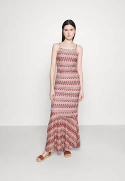 Vila - VIFESTIVA MAXI STRAP DRESS - Maxikleid - sandshell/multicolored jacquard
