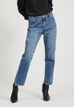 Vila - Straight leg jeans - medium blue denim