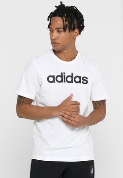 adidas Performance - LIN TEE - Camiseta estampada - white/black