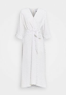 Closet - CLOSET HIGH LOW WRAP DRESS - Freizeitkleid - white