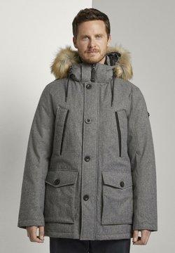 TOM TAILOR - MIT FELLKRAGEN - Wintermantel - grey brushed wool optic