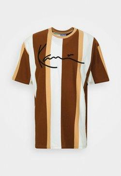 Karl Kani - SIGNATURE STRIPE TEE - T-Shirt print - beige