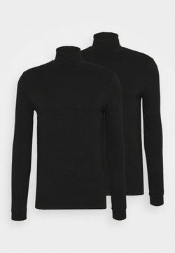 Topman - ROLL NECK 2 PACK - Långärmad tröja - black