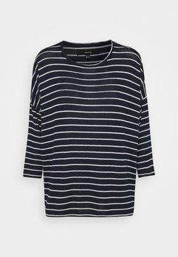 Vero Moda - VMBRIANNA - Strickpullover - navy blazer/snow white