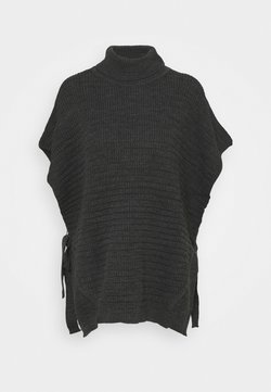 b.young - WERONICA PONCHO - Cape - dark grey melange