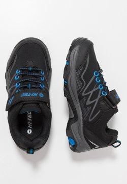 Hi-Tec - BLACKOUT LOW JR UNISEX - Obuwie hikingowe - black/blue