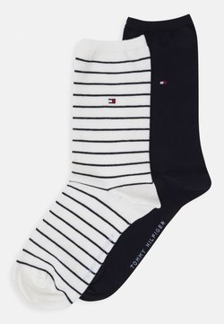 Tommy Hilfiger - WOMEN SOCK SMALL STRIPE 2 PACK - Socken - off-white