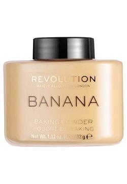 Make up Revolution - LOOSE BAKING POWDER - Spray fixant & poudre - banana