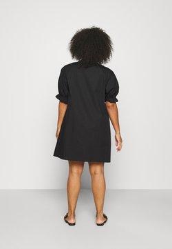 NU-IN - PUFF SLEEVE A LINE MINI DRESS - Kjole - black