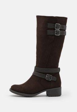 Evans - WIDE FIT RIDER BOOT - Stiefel - brown