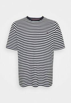 Tommy Hilfiger - STRETCH TEE - T-Shirt print - desert sky/white