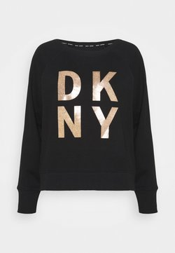 DKNY - STACKED LOGO  - Collegepaita - black