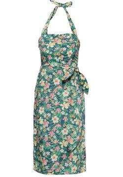Queen Kerosin - MIT TROPISCHEM MUSTER - Korte jurk - grün