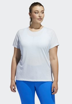 adidas Performance - GO TO T-SHIRT (PLUS SIZE) - Camiseta estampada - blue