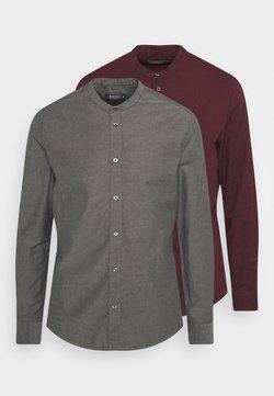 Burton Menswear London - LONG SLEEVE OXFORD GRANDAD 2 PACK - Camicia - bordeaux